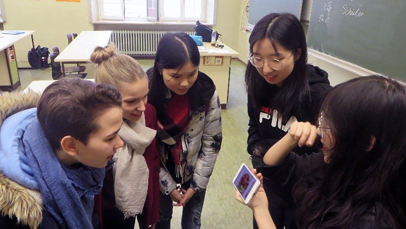 Eingabe chinesischer Schriftzeichen am Smartphone