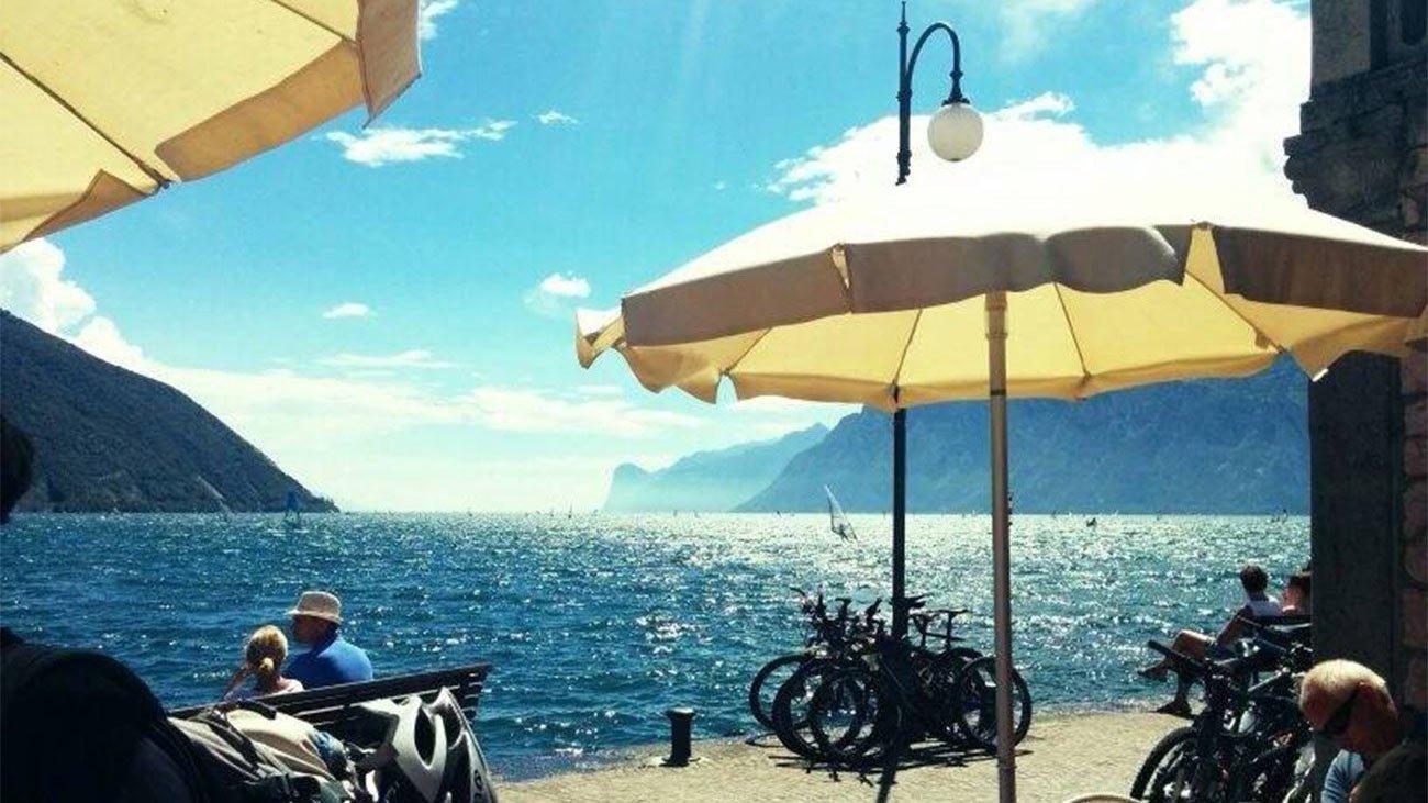 Transalp 2018 - Blick auf den Gardasee