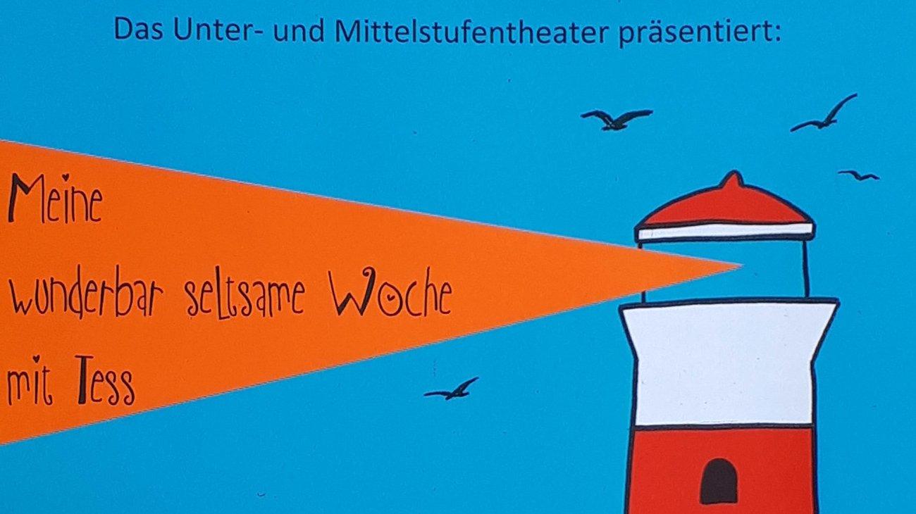 Ausschnitt aus dem Theaterplakat: Meine wunderbar seltsame Woche mit Tess