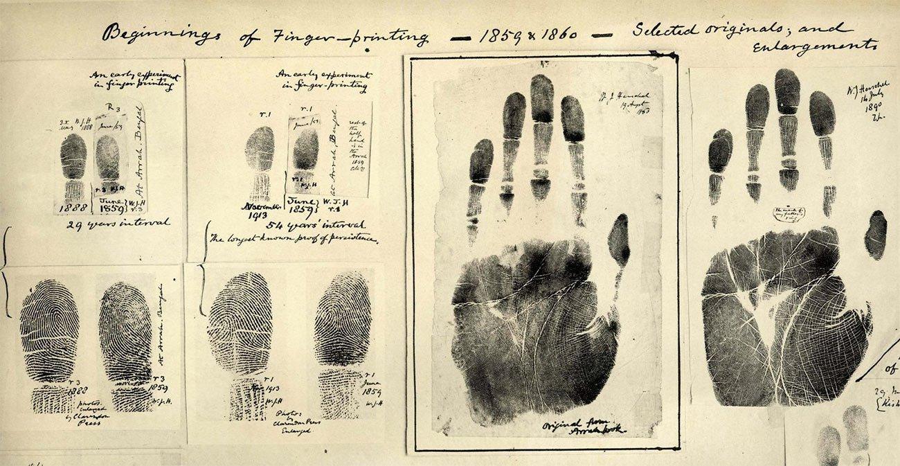 Auf den Spuren von Herschel: Die ersten von Herschel genommenen Finger- & Handabdrücke aus den Jahren 1859/60