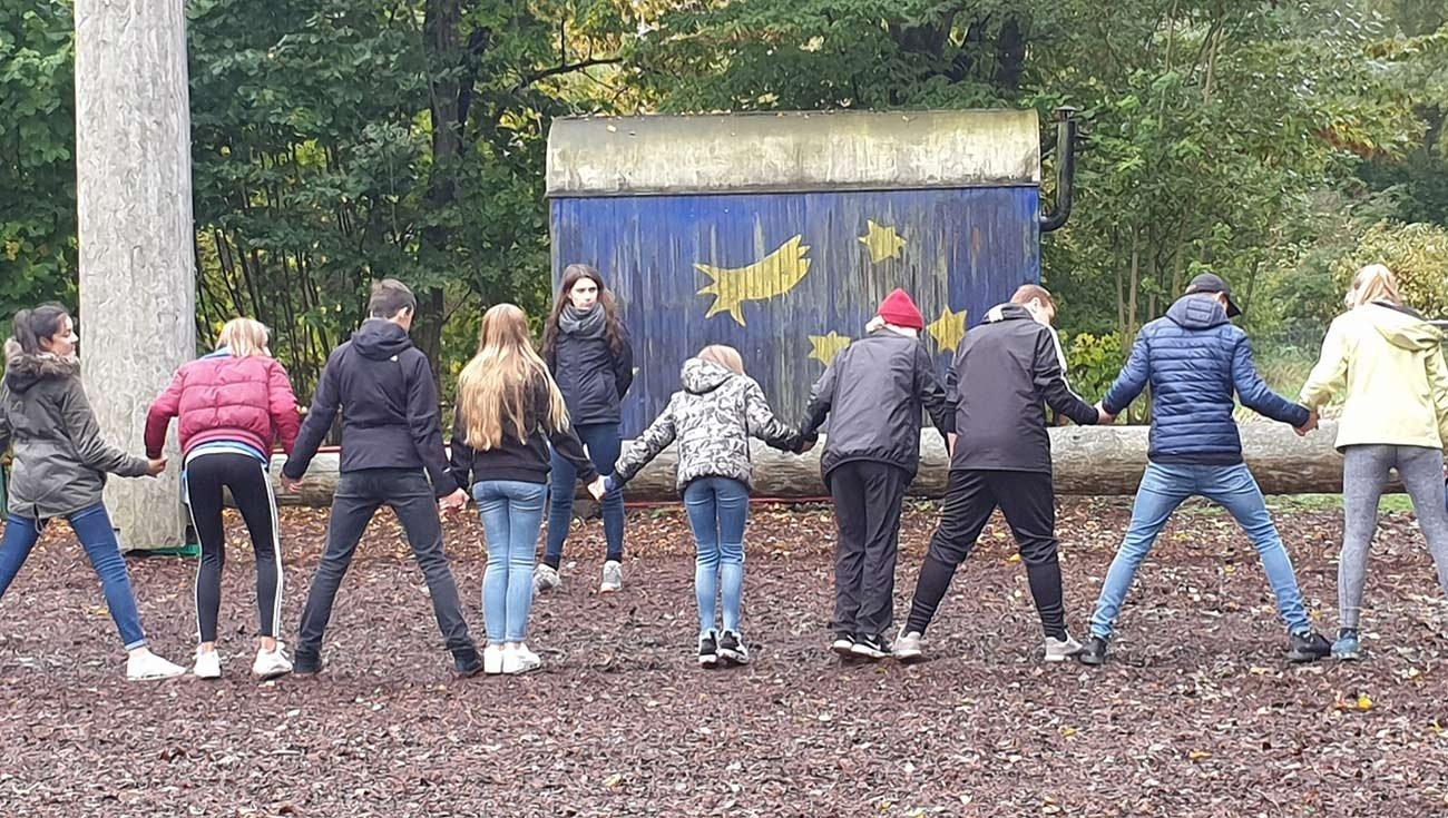 Unsere 9. Klasse auf dem Teamtag in Bliensbach