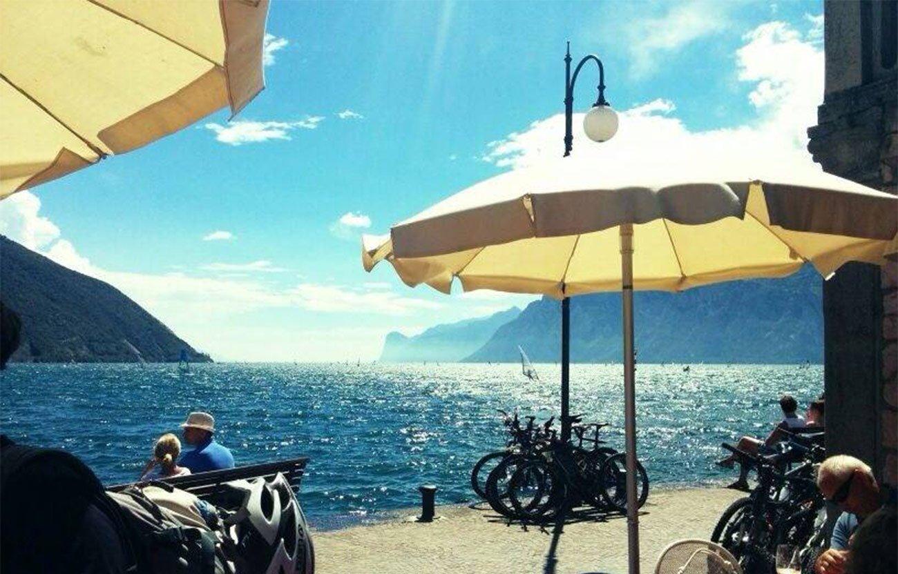 Transalp 2017 - Blick auf den Gardasee